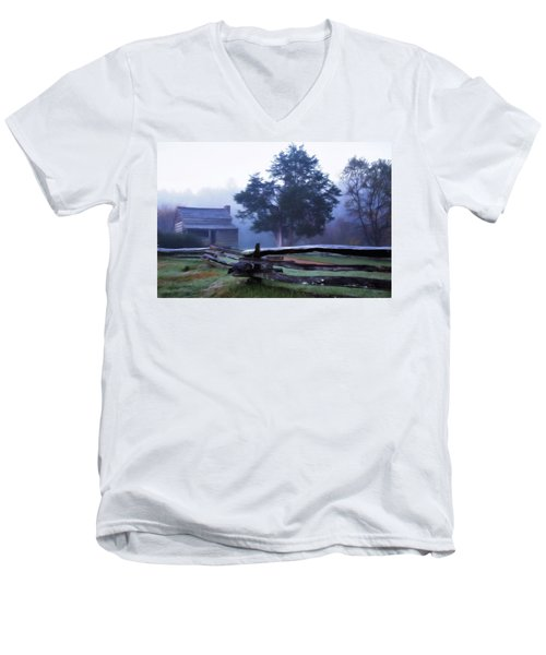 The Dan Lawson Place Men's V-Neck T-Shirt by Lana Trussell