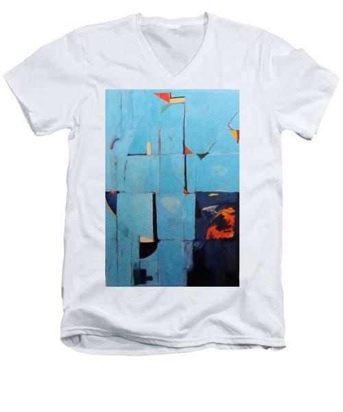 Night Creeps In Men's V-Neck T-Shirt