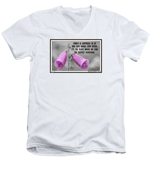 The Deepest Heartache Men's V-Neck T-Shirt by Holley Jacobs