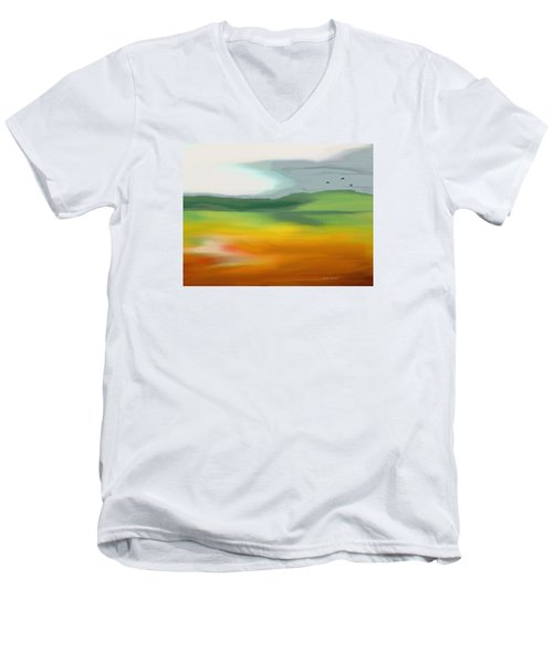 The Distant Hills Men's V-Neck T-Shirt