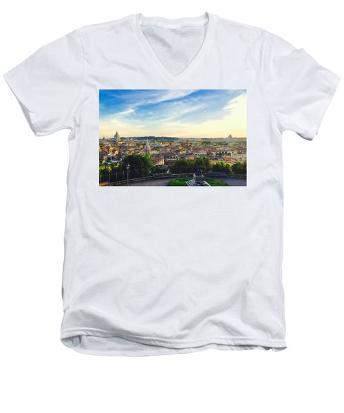 The Domes Of Rome Men's V-Neck T-Shirt