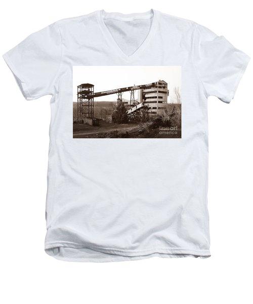 The Dorrance Coal Breaker Wilkes Barre Pennsylvania 1983 Men's V-Neck T-Shirt