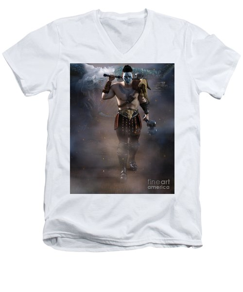 The Dragon Master Men's V-Neck T-Shirt