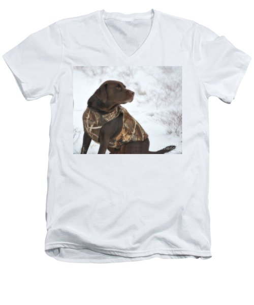 The Duck Dog Iv Men's V-Neck T-Shirt