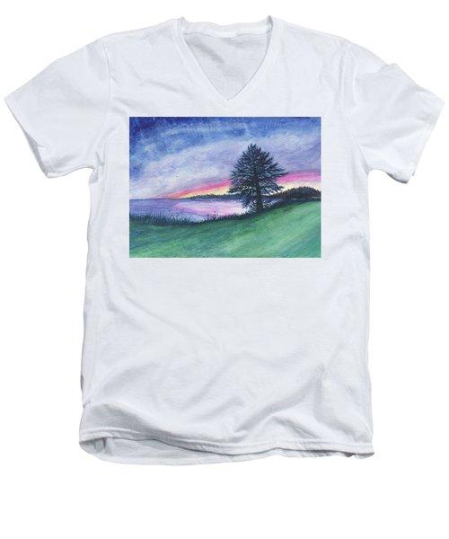 The Edge Of Evening Men's V-Neck T-Shirt