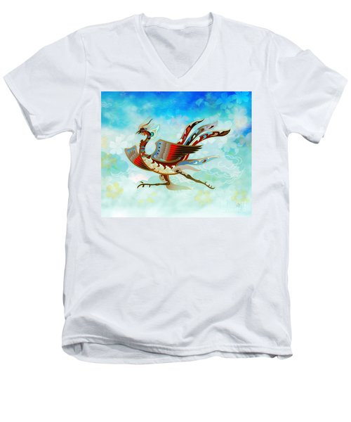 The Empress - Flight Of Phoenix - Blue Version Men's V-Neck T-Shirt