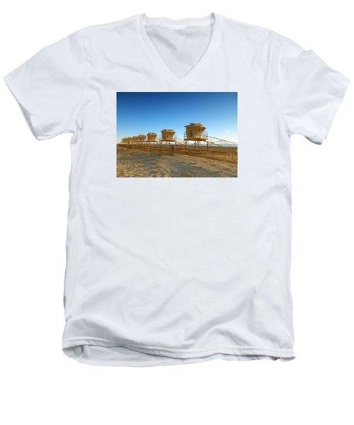 The End Of Summer Men's V-Neck T-Shirt by Everette McMahan jr