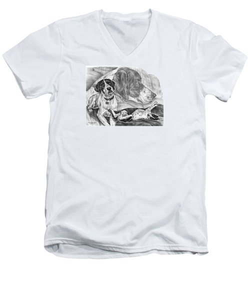 The English Major - English Pointer Dog Men's V-Neck T-Shirt