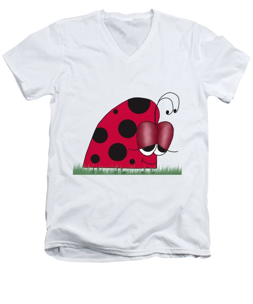The Euphoric Ladybug Men's V-Neck T-Shirt
