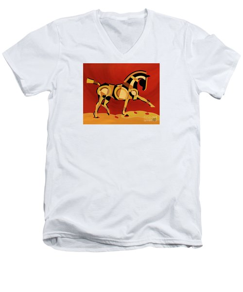 The Extension Of Equus Men's V-Neck T-Shirt