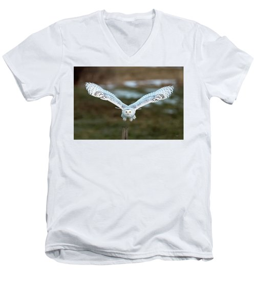 Men's V-Neck T-Shirt featuring the photograph The Eyes Of Intent by Everet Regal