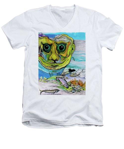 The Face Of Summer Lost Men's V-Neck T-Shirt
