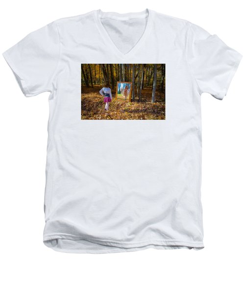 The Fairy In The Mirror Men's V-Neck T-Shirt