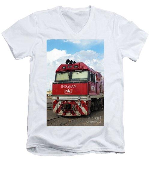 The Famed Ghan Train  Men's V-Neck T-Shirt