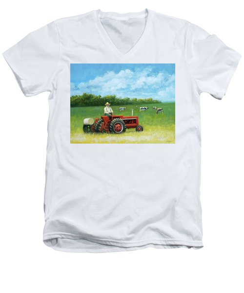 The Farmer Men's V-Neck T-Shirt