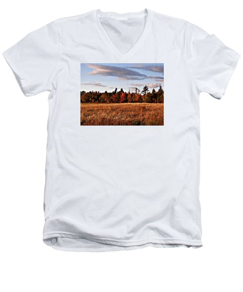 The Field At The Old Farm Men's V-Neck T-Shirt by Joy Nichols