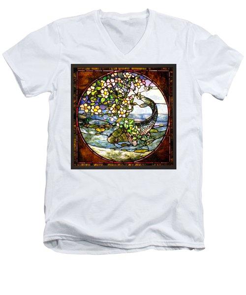 The Fish Men's V-Neck T-Shirt by Joseph Skompski