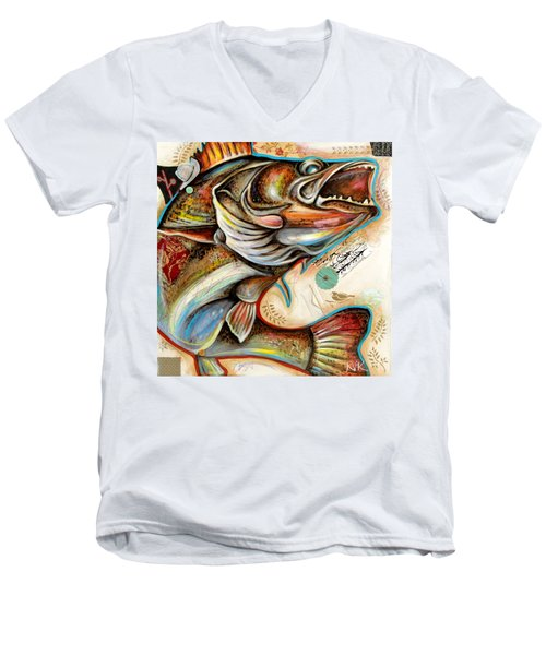 The Fish Men's V-Neck T-Shirt