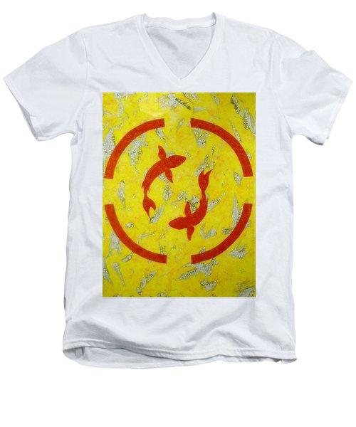 The Fishes Men's V-Neck T-Shirt