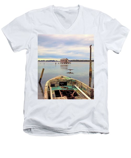 The Fishing Shack Men's V-Neck T-Shirt