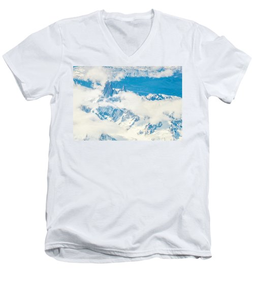 Men's V-Neck T-Shirt featuring the photograph The Fitz Roy by Andrew Matwijec