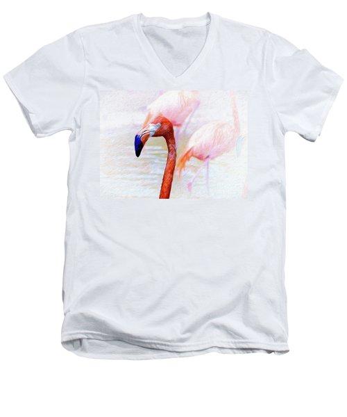 The Flamingo Men's V-Neck T-Shirt