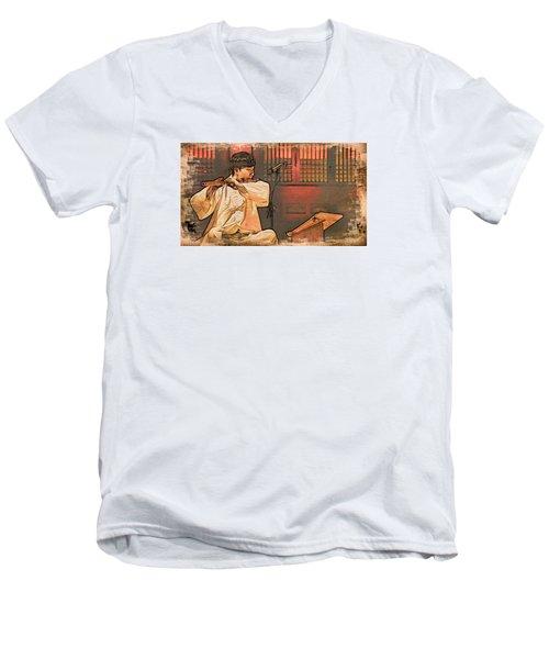 The Flautist Men's V-Neck T-Shirt