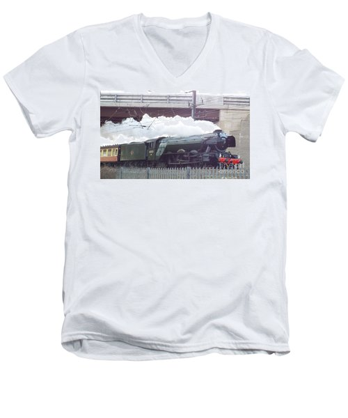 The Flying Scotsman Men's V-Neck T-Shirt