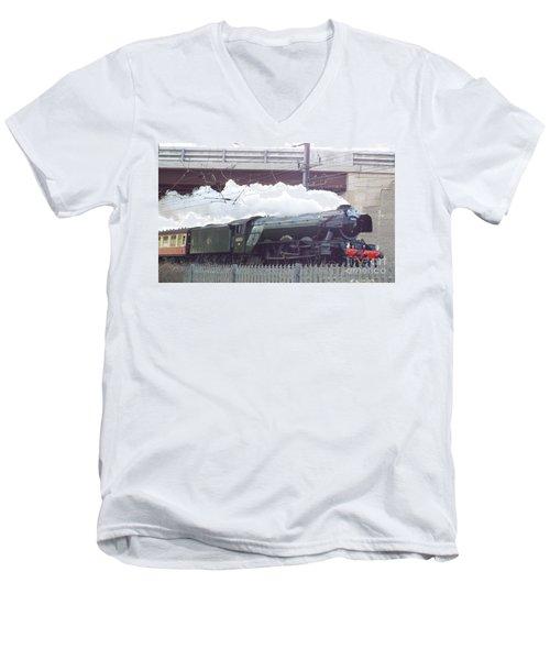The Flying Scotsman Men's V-Neck T-Shirt