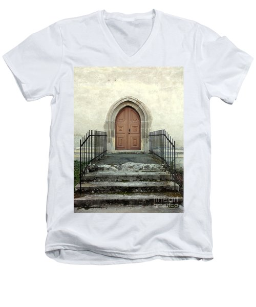 The Fortress Church's Side Door  Men's V-Neck T-Shirt