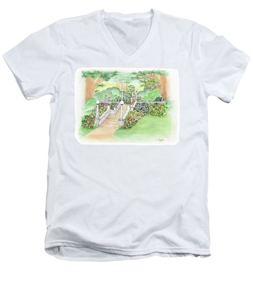 The Fountain Men's V-Neck T-Shirt