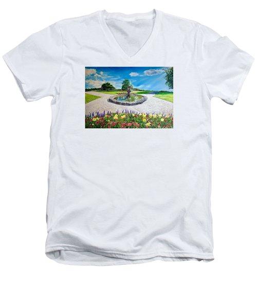 Gushing Fountain Men's V-Neck T-Shirt