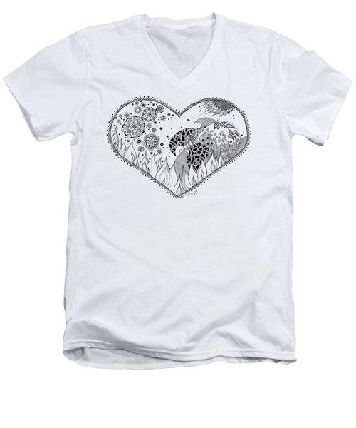 The Four Elements Men's V-Neck T-Shirt by Ana V Ramirez