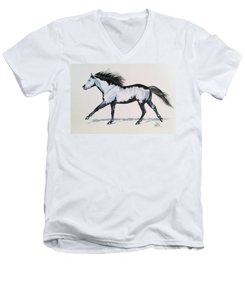 The Framed American Paint Horse Men's V-Neck T-Shirt
