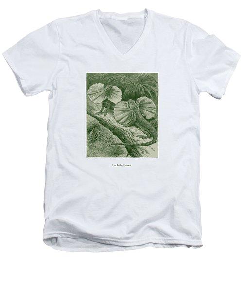 The Frilled Lizard Men's V-Neck T-Shirt by David Davies