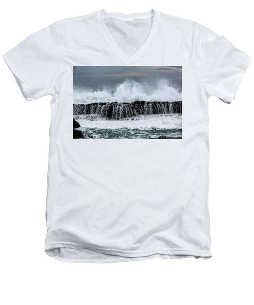 The Fury Men's V-Neck T-Shirt by Edgar Laureano