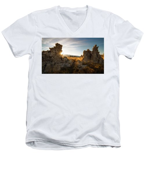 The Gateway Men's V-Neck T-Shirt by Bjorn Burton