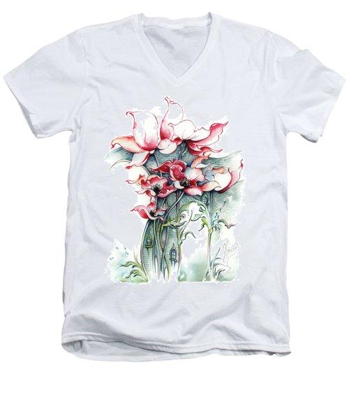The Gateway To Imagination Men's V-Neck T-Shirt by Anna Ewa Miarczynska