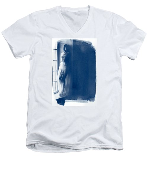 The Girl At The Window. Men's V-Neck T-Shirt by Andrey  Godyaykin