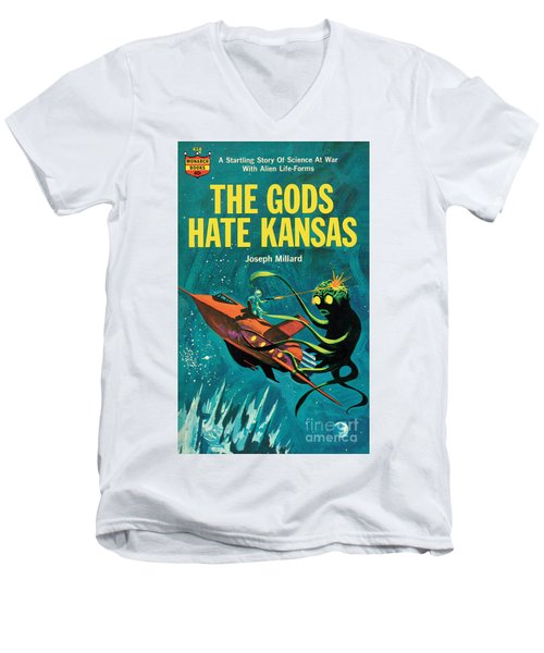 The Gods Hate Kansas Men's V-Neck T-Shirt by Jack Thurston
