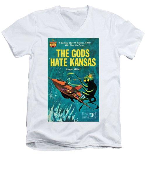 The Gods Hate Kansas Men's V-Neck T-Shirt