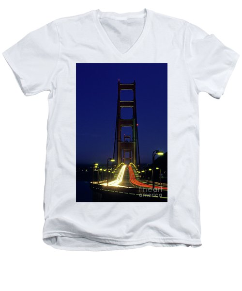 The Golden Gate Bridge Twilight Men's V-Neck T-Shirt