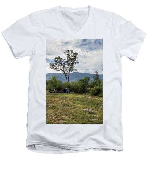 Men's V-Neck T-Shirt featuring the photograph The Good Life by Linda Lees