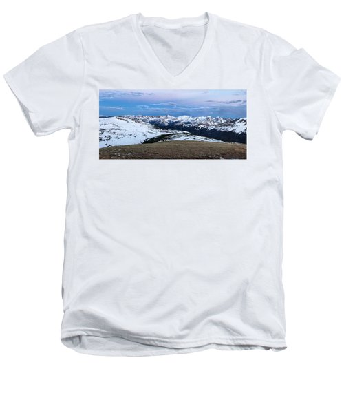 The Gore Range At Sunrise - Rocky Mountain National Park Men's V-Neck T-Shirt by Ronda Kimbrow