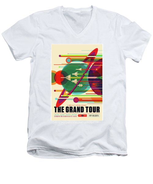 The Grand Tour - Nasa Vintage Poster Men's V-Neck T-Shirt