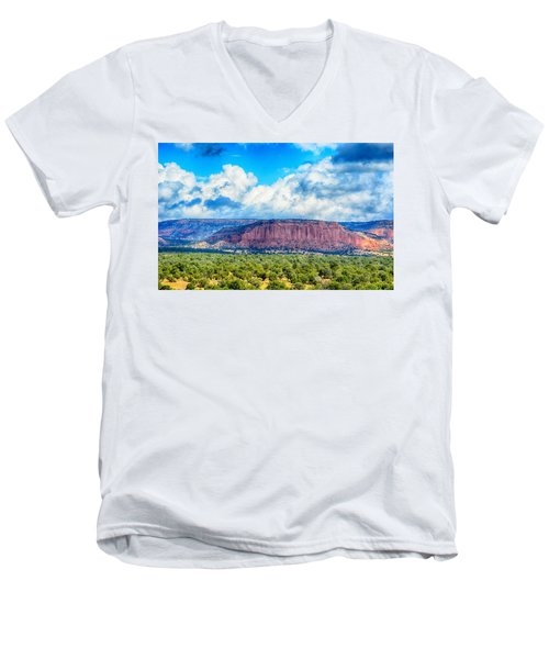 Men's V-Neck T-Shirt featuring the photograph The Great Divide by AJ Schibig