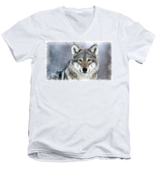 The Grey Wolf Men's V-Neck T-Shirt