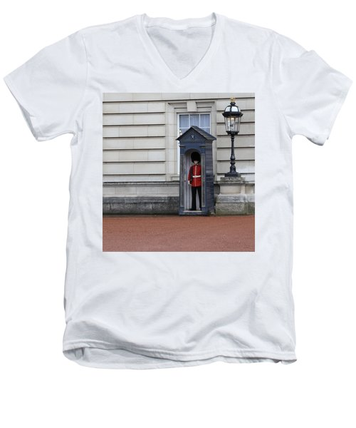 The Guard At Buckingham Palace Men's V-Neck T-Shirt
