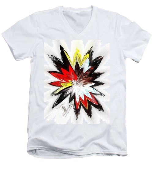 The Happy Asteroids Men's V-Neck T-Shirt