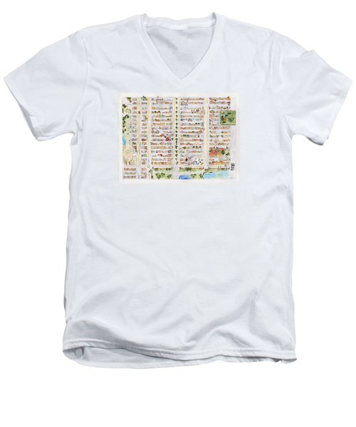The Harlem Map Men's V-Neck T-Shirt